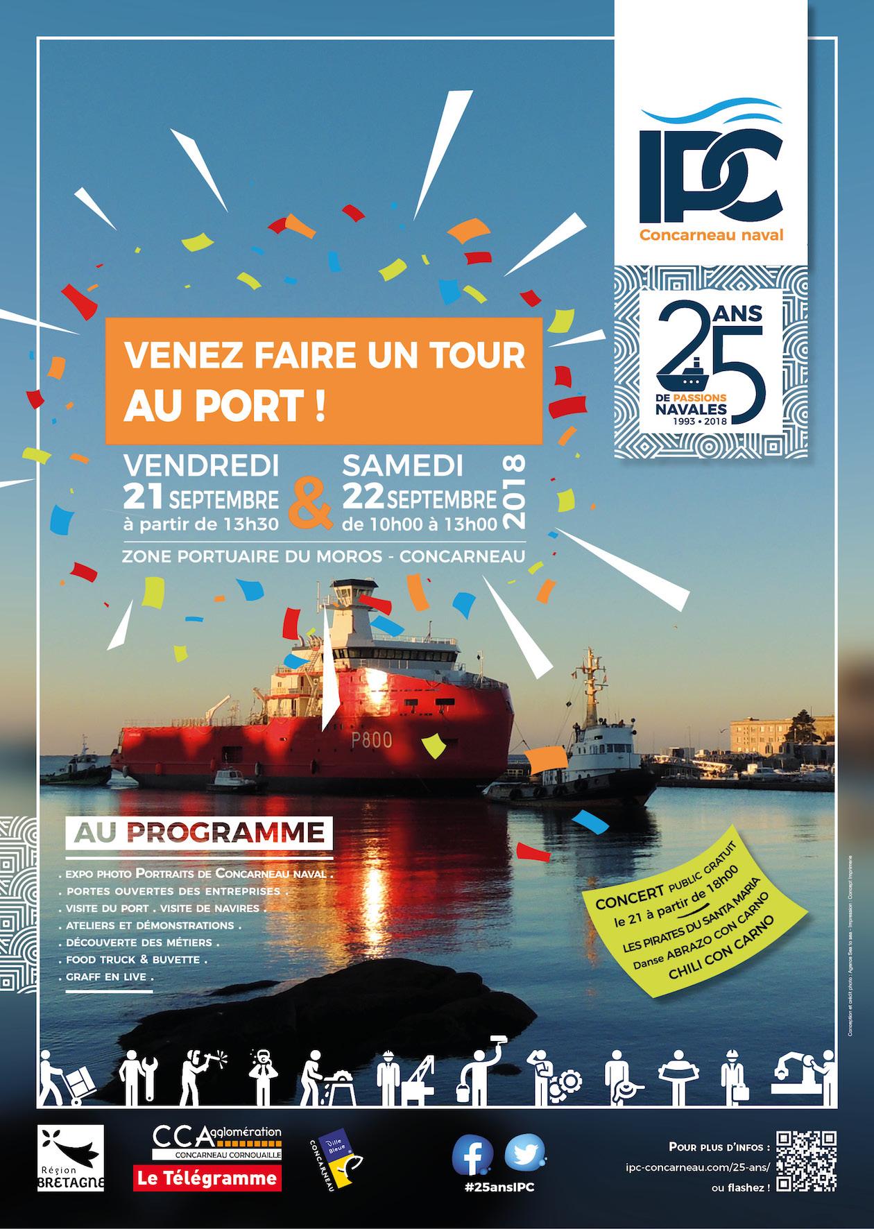 Affiche 25 ANS IPC Concarneau Naval