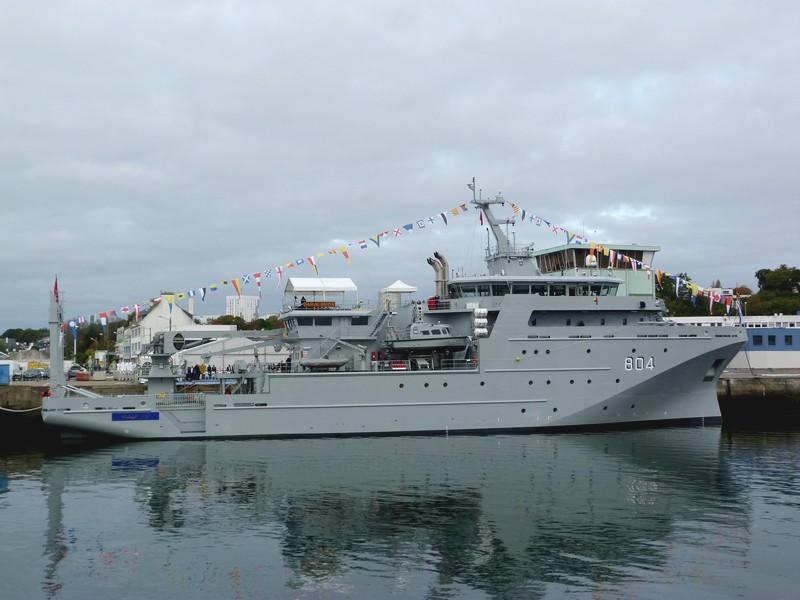 PIRIOU livre le 'DAR AL BEIDA' à La Marine Royale Marocaine le 26 octobre à Concarneau