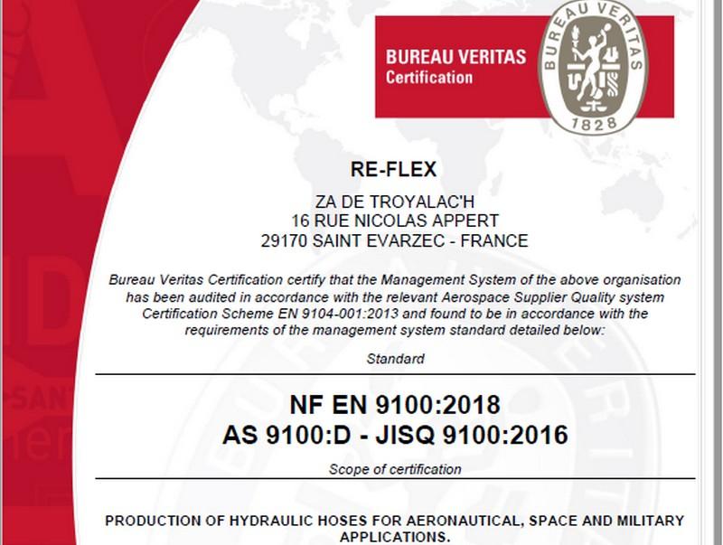 Certification EN 9100 Reflex - IPC Concarneau Naval