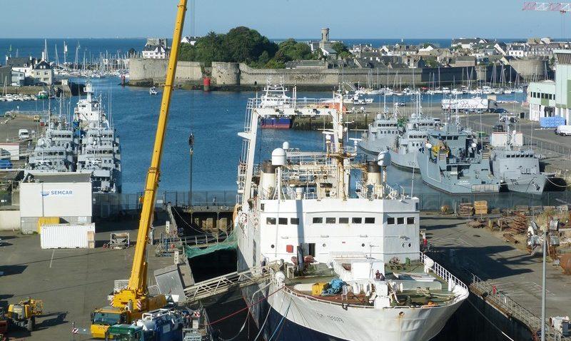 ©IPC Concarneau Naval - Joseph Roty II cale sèche - juillet 2019