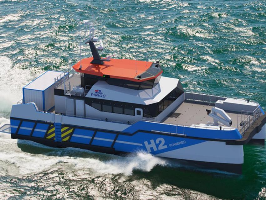 PIRIOU développe un Crew Transfer Vessel (CTV) à propulsion hybride hydrogène